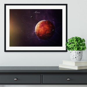 The Red Planet Mars Framed Print - Canvas Art Rocks - 1