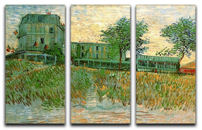 The Restaurant de la Sirene at Asnieres by Van Gogh 3 Split Panel Canvas Print