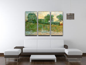 The Restaurant de la Sirene at Asnieres by Van Gogh 3 Split Panel Canvas Print - Canvas Art Rocks - 4