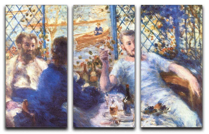 The Rowers Lunch by Renoir 3 Split Panel Canvas Print