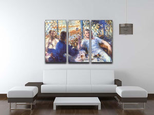 The Rowers Lunch by Renoir 3 Split Panel Canvas Print - Canvas Art Rocks - 3