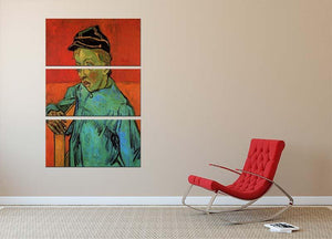 The Schoolboy Camille Roulin by Van Gogh 3 Split Panel Canvas Print - Canvas Art Rocks - 2