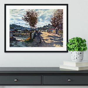 The Seine at Bougival by Monet Framed Print - Canvas Art Rocks - 1