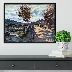 The Seine at Bougival by Monet Framed Print - Canvas Art Rocks - 2