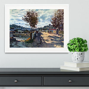 The Seine at Bougival by Monet Framed Print - Canvas Art Rocks - 5