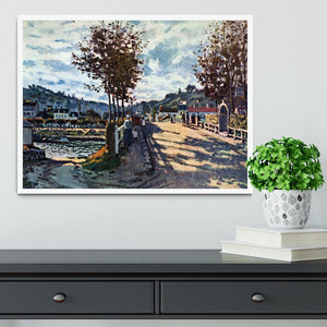 The Seine at Bougival by Monet Framed Print - Canvas Art Rocks -6