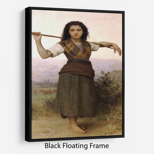 The Shepherdess By Bouguereau Floating Frame Canvas