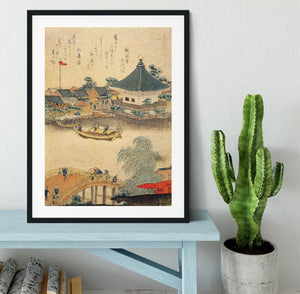 The Shrine Komagata Do in Komagata by Hokusai Framed Print - Canvas Art Rocks - 1