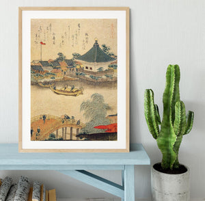 The Shrine Komagata Do in Komagata by Hokusai Framed Print - Canvas Art Rocks - 3