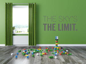 The Skys The Limit Wall Sticker - Canvas Art Rocks - 1