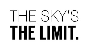 The Skys The Limit Wall Sticker - Canvas Art Rocks - 2