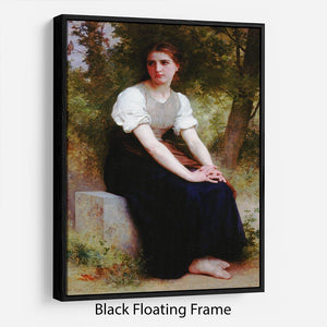 The Song of the Nightingale By Bouguereau Floating Frame Canvas