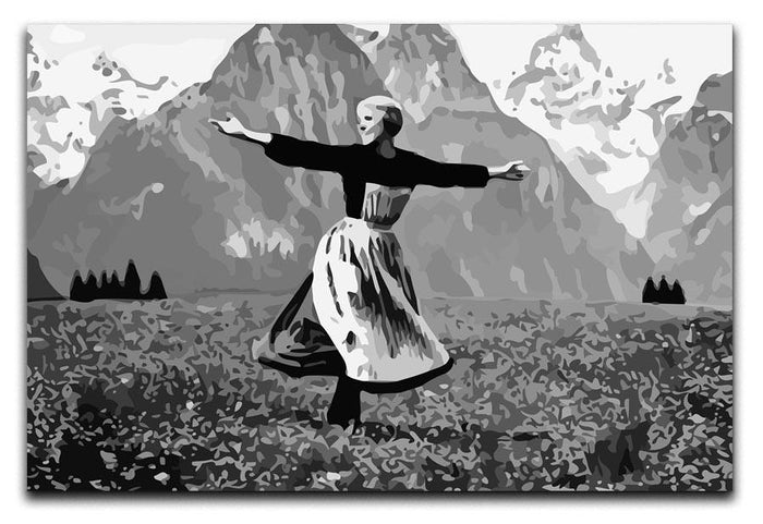 The Sound Of Music Black and White Canvas Print or Poster