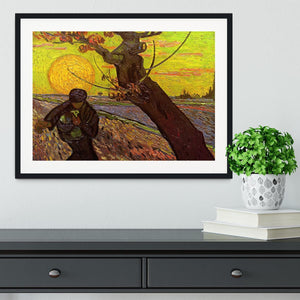 The Sower by Van Gogh Framed Print - Canvas Art Rocks - 1