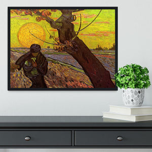The Sower by Van Gogh Framed Print - Canvas Art Rocks - 2