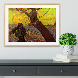 The Sower by Van Gogh Framed Print - Canvas Art Rocks - 3