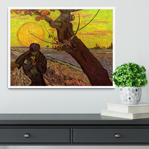 The Sower by Van Gogh Framed Print - Canvas Art Rocks -6