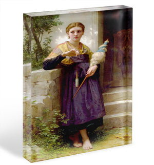 The Spinne By Bouguereau Acrylic Block - Canvas Art Rocks - 1