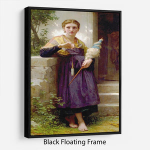 The Spinne By Bouguereau Floating Frame Canvas