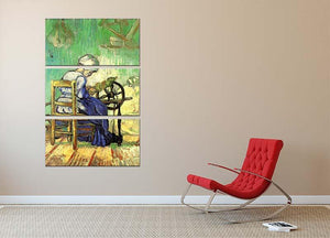 The Spinner by Van Gogh 3 Split Panel Canvas Print - Canvas Art Rocks - 2