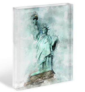The Statue of Liberty Acrylic Block - Canvas Art Rocks - 1