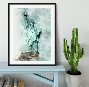 The Statue of Liberty Framed Print - Canvas Art Rocks - 1