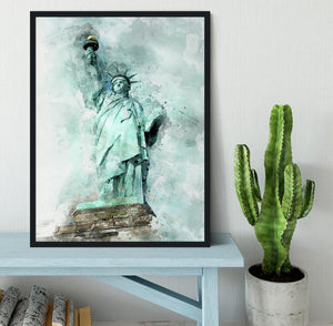The Statue of Liberty Framed Print - Canvas Art Rocks - 2