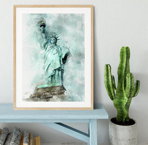 The Statue of Liberty Framed Print - Canvas Art Rocks - 3