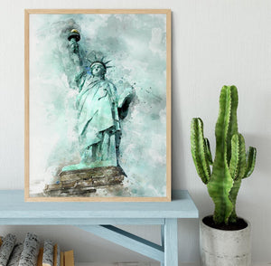 The Statue of Liberty Framed Print - Canvas Art Rocks - 4