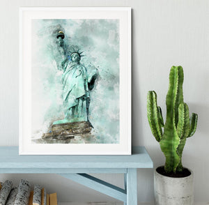 The Statue of Liberty Framed Print - Canvas Art Rocks - 5