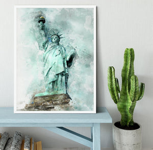 The Statue of Liberty Framed Print - Canvas Art Rocks -6