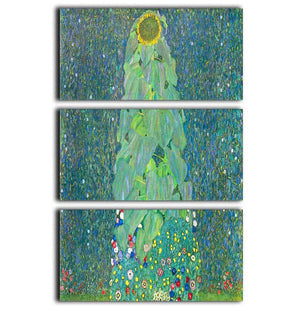 The Sunflower by Klimt 3 Split Panel Canvas Print - Canvas Art Rocks - 1