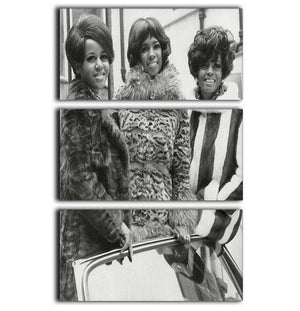The Supremes ready to sing 3 Split Panel Canvas Print - Canvas Art Rocks - 1