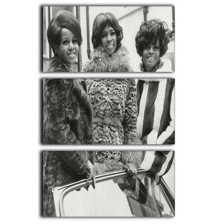The Supremes ready to sing 3 Split Panel Canvas Print