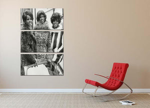 The Supremes ready to sing 3 Split Panel Canvas Print - Canvas Art Rocks - 2