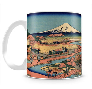 The Tea plantation by Hokusai Mug - Canvas Art Rocks - 2