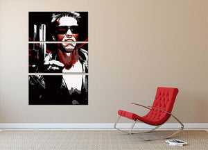 The Terminator 3 Split Panel Canvas Print - Canvas Art Rocks - 2