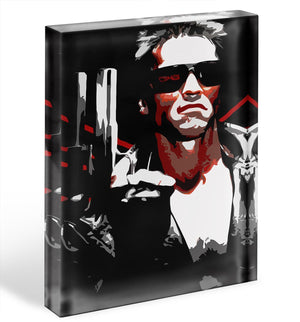 The Terminator Acrylic Block - Canvas Art Rocks - 1