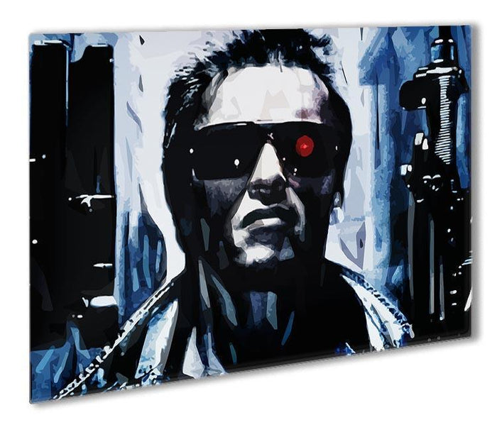 The Terminator Double Guns Outdoor Metal Print
