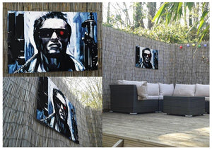 The Terminator Double Guns Outdoor Metal Print - Canvas Art Rocks - 2