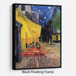 The Terrace Cafe by Van Gogh Floating Frame Canvas - Canvas Art Rocks - 1