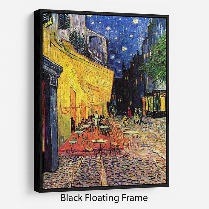 The Terrace Cafe by Van Gogh Floating Frame Canvas