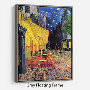 The Terrace Cafe by Van Gogh Floating Frame Canvas - Canvas Art Rocks - 3