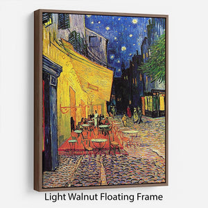 The Terrace Cafe by Van Gogh Floating Frame Canvas - Canvas Art Rocks 7