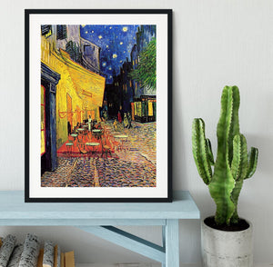 The Terrace Cafe by Van Gogh Framed Print - Canvas Art Rocks - 1