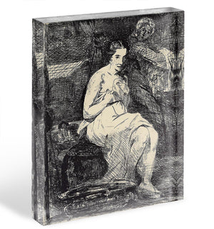 The Toillette by Manet Acrylic Block - Canvas Art Rocks - 1