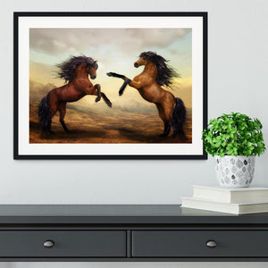 The Two Horses Framed Print - Canvas Art Rocks - 1