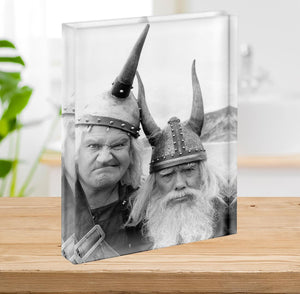 The Two Ronnies dressed as Vikings Acrylic Block - Canvas Art Rocks - 2