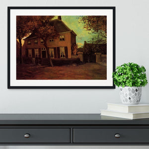 The Vicarage at Nuenen by Van Gogh Framed Print - Canvas Art Rocks - 1