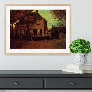 The Vicarage at Nuenen by Van Gogh Framed Print - Canvas Art Rocks - 3